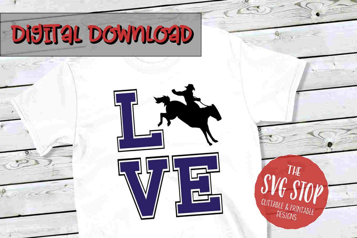 Love Rodeo -SVG, PNG, DXF example image 1