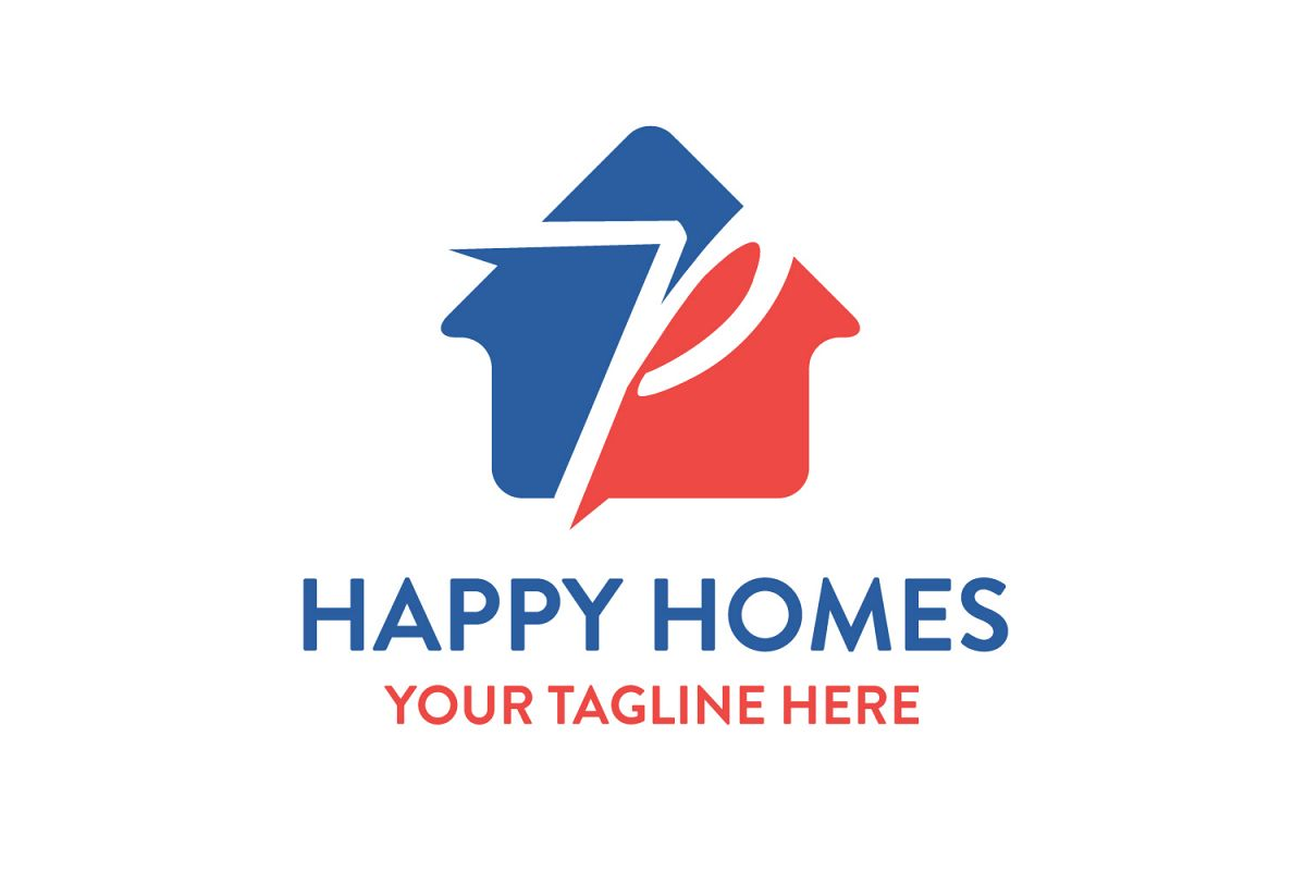 P letter house logo example image 1