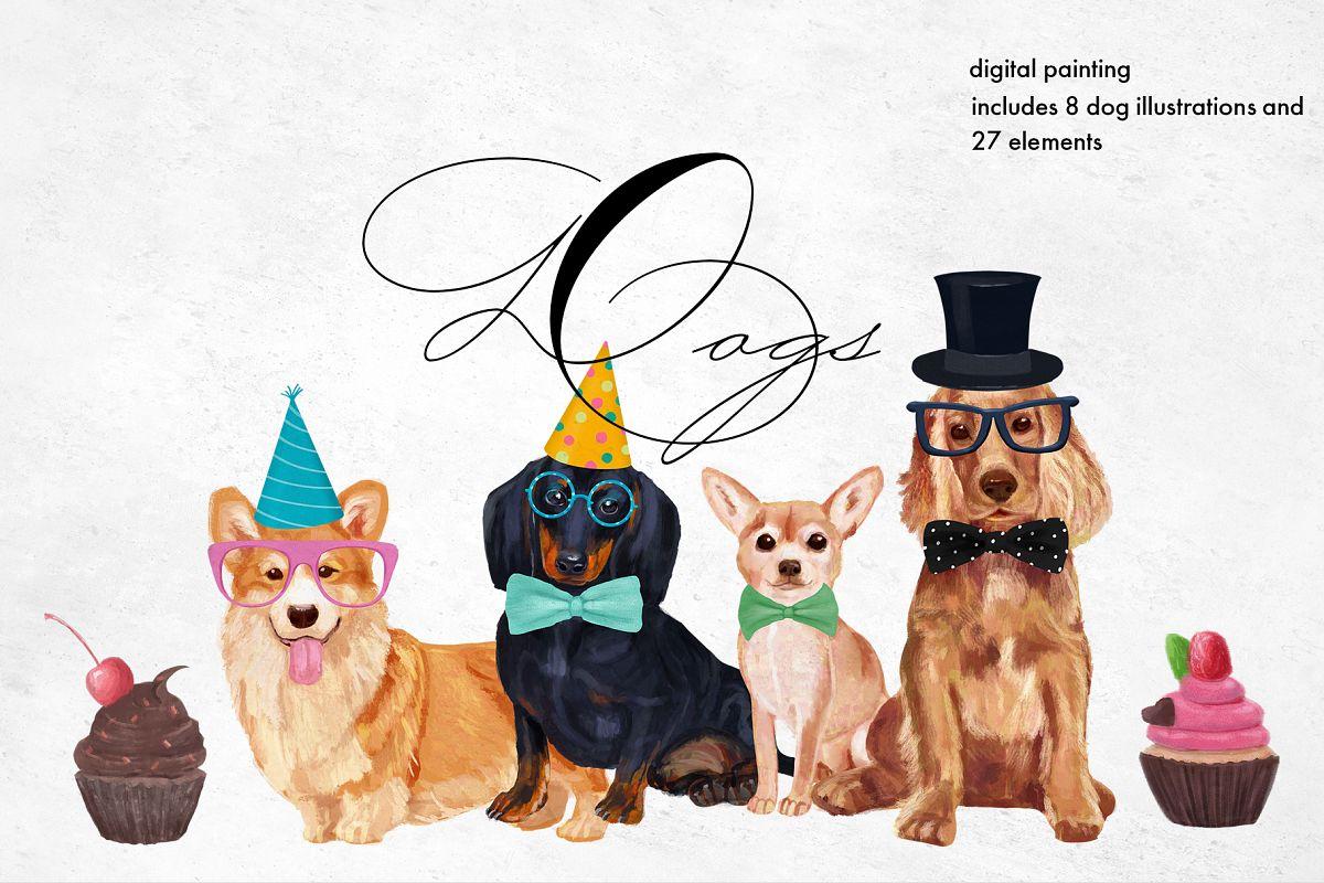 Dog breeds Illustrations example image 1