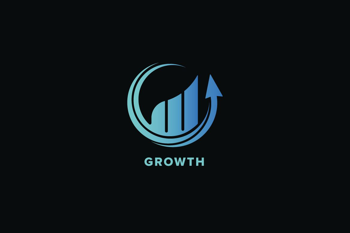 Growth Market Logo Template example image 1