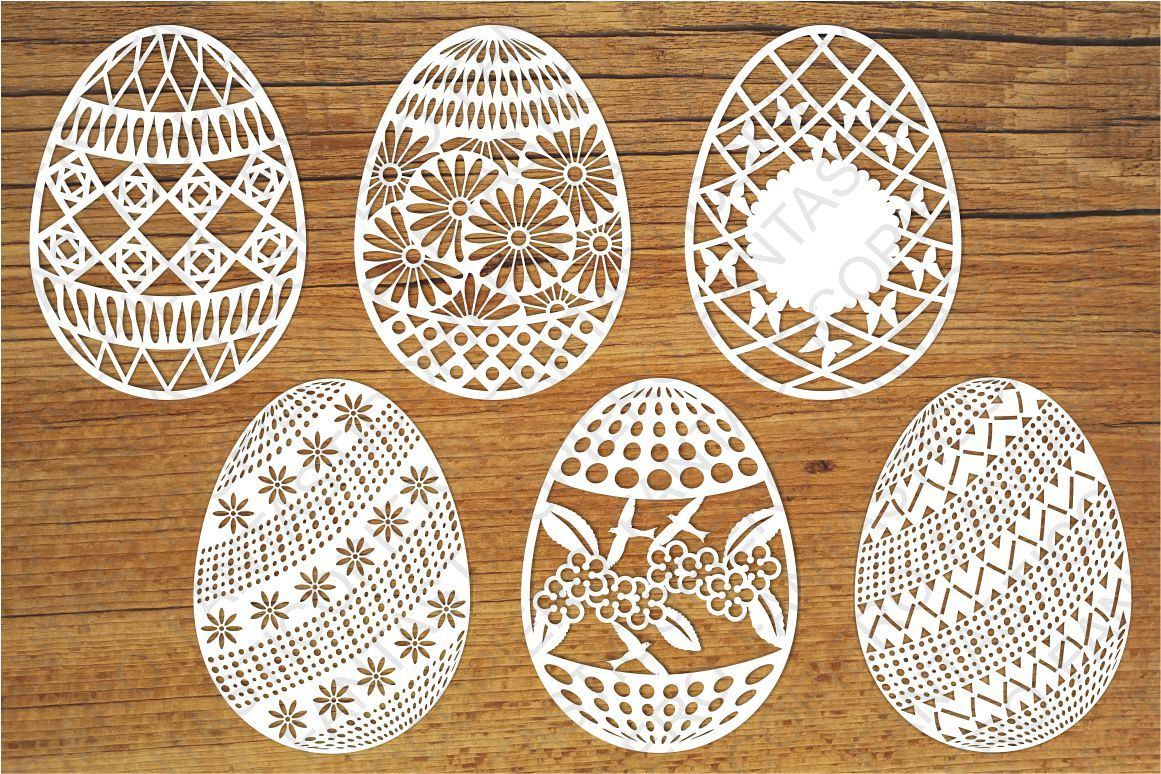 Download Easter Eggs set 2 SVG files for Silhouette and Cricut.
