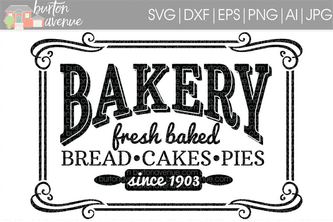 Vintage Bakery Sign Cut File
