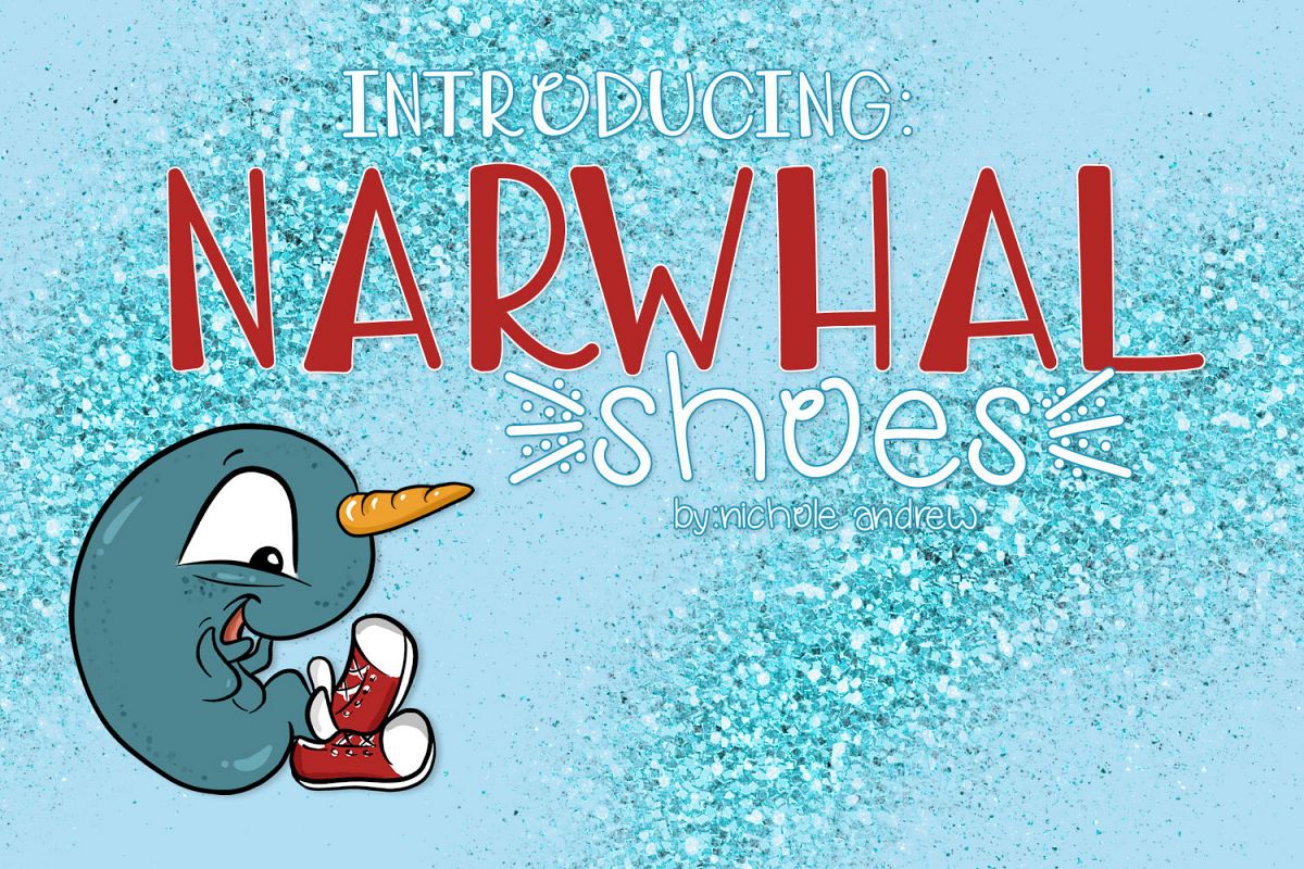 Narwhal Shoes, A Handwritten Font example image 1