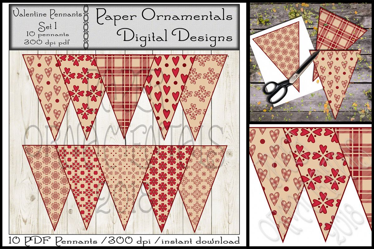 photo relating to Valentine Banner Printable known as Printable Valentine Pennant Banner Preset 1