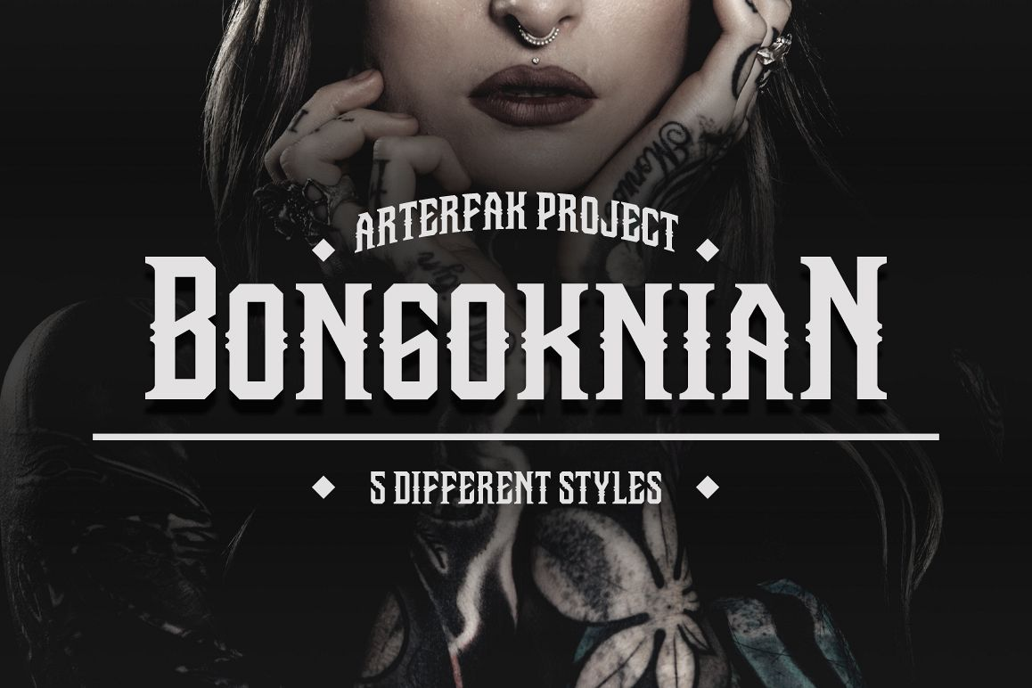 Bongoknian Typeface example image 1