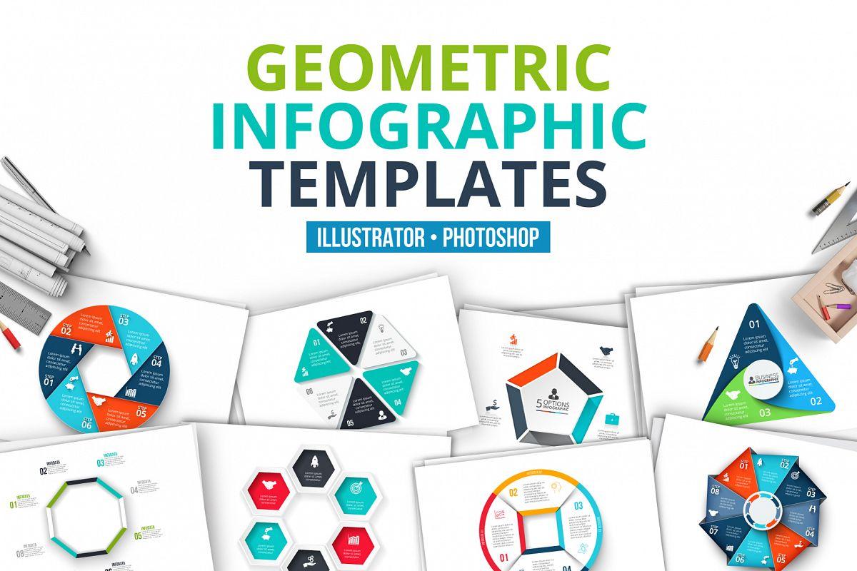 Geometric infographic templates example image 1