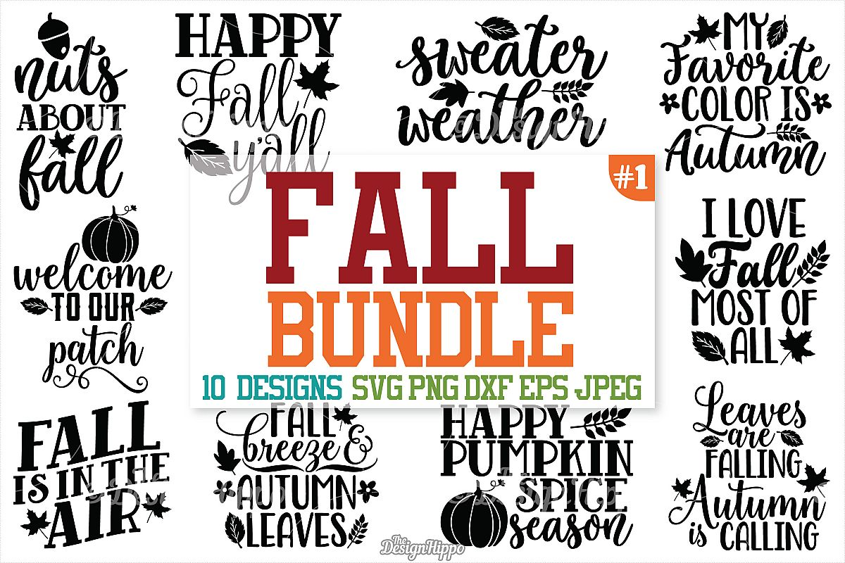 Fall SVG Bundle, Autumn, Fall, Pumpkin spice, Fall y'all SVG example image 1