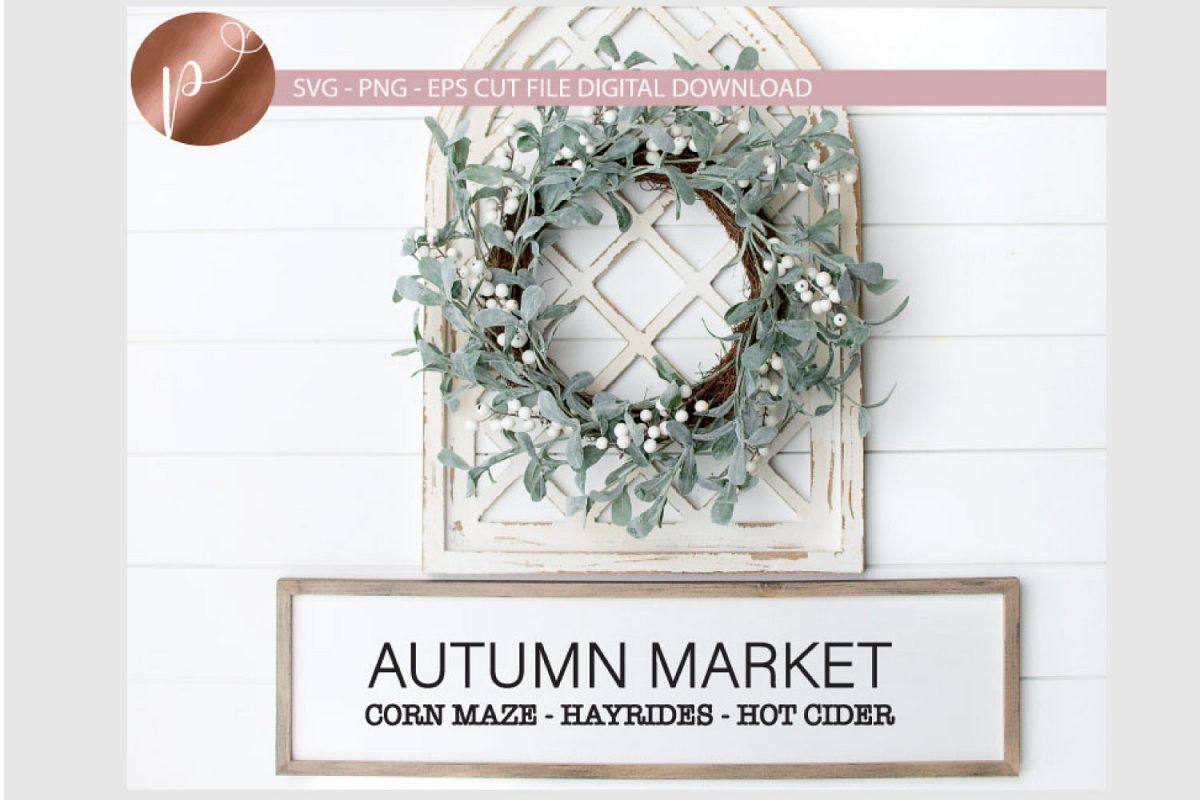 Autumn Market Svg, Fall Svg, Corn Maze, Hayrides, Hot Cider example image 1