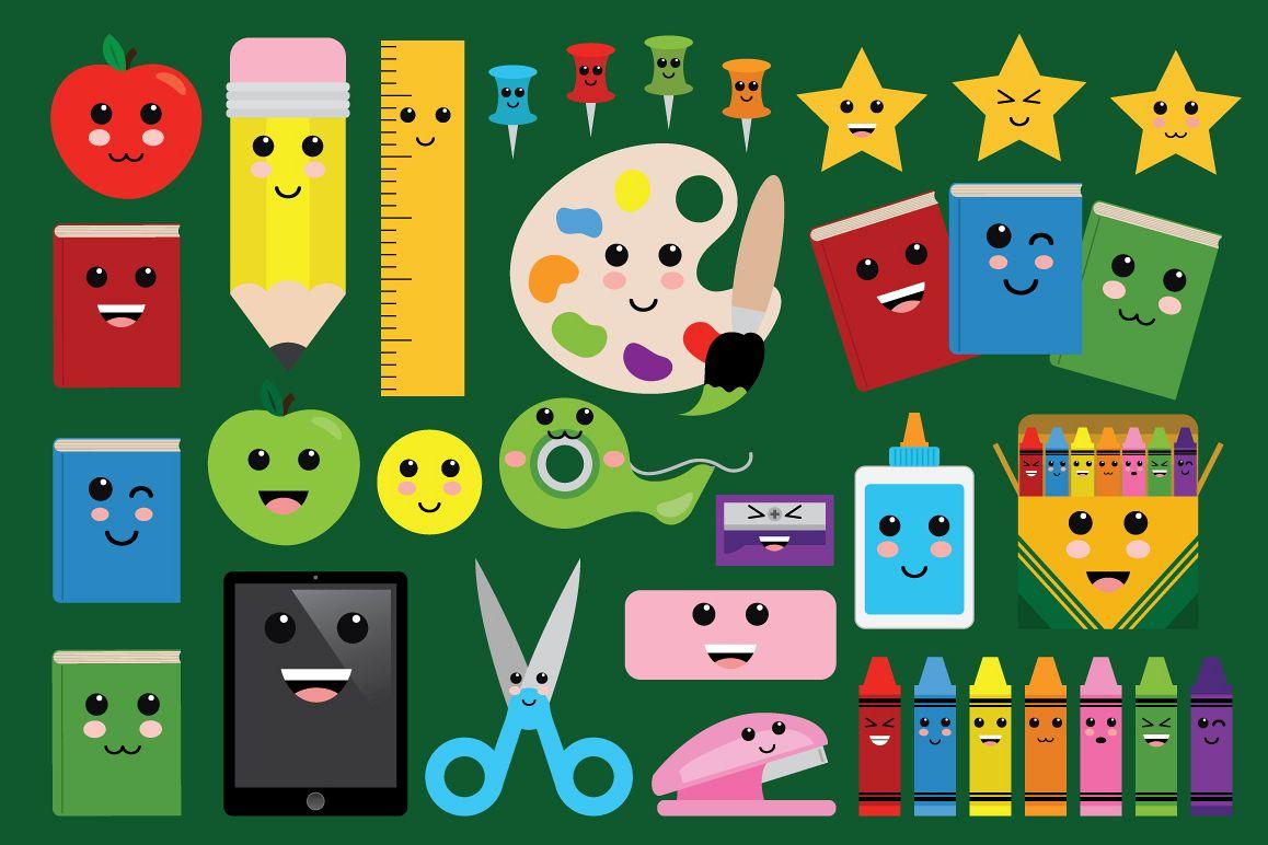 Cute Classroom Back To School Clip Art Set example image 1