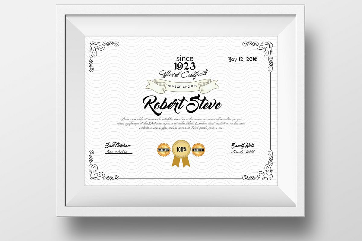 Educational Certificate & Diploma Template example image 1