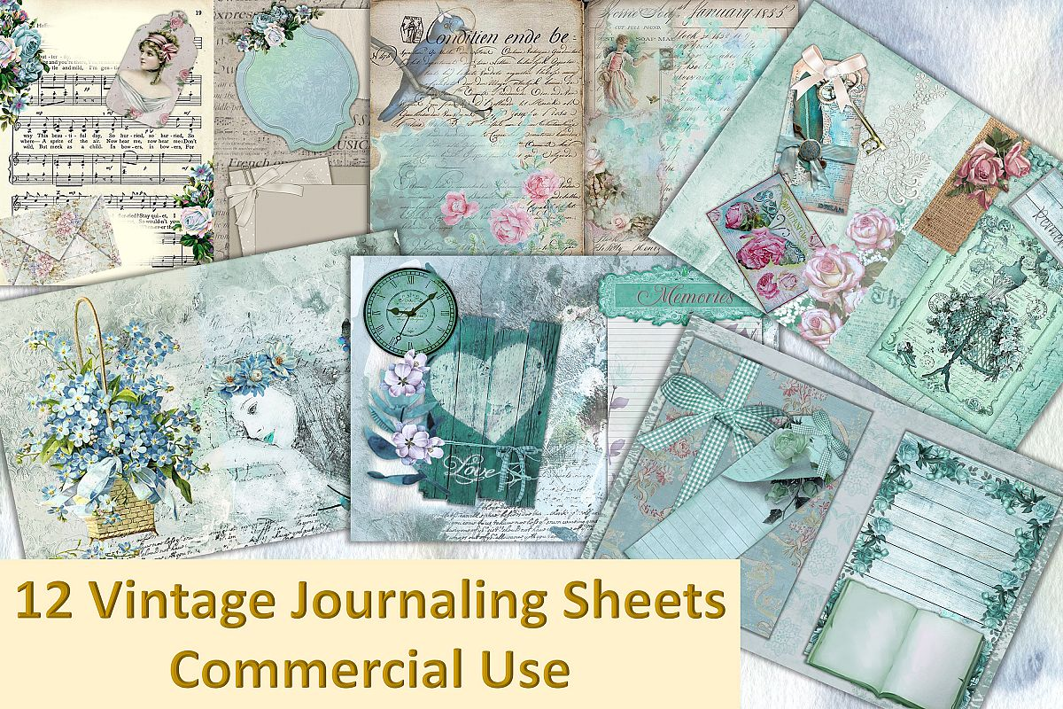 Vintage Victorian Backgrounds with Free Ephemera Kit. CU example image 1