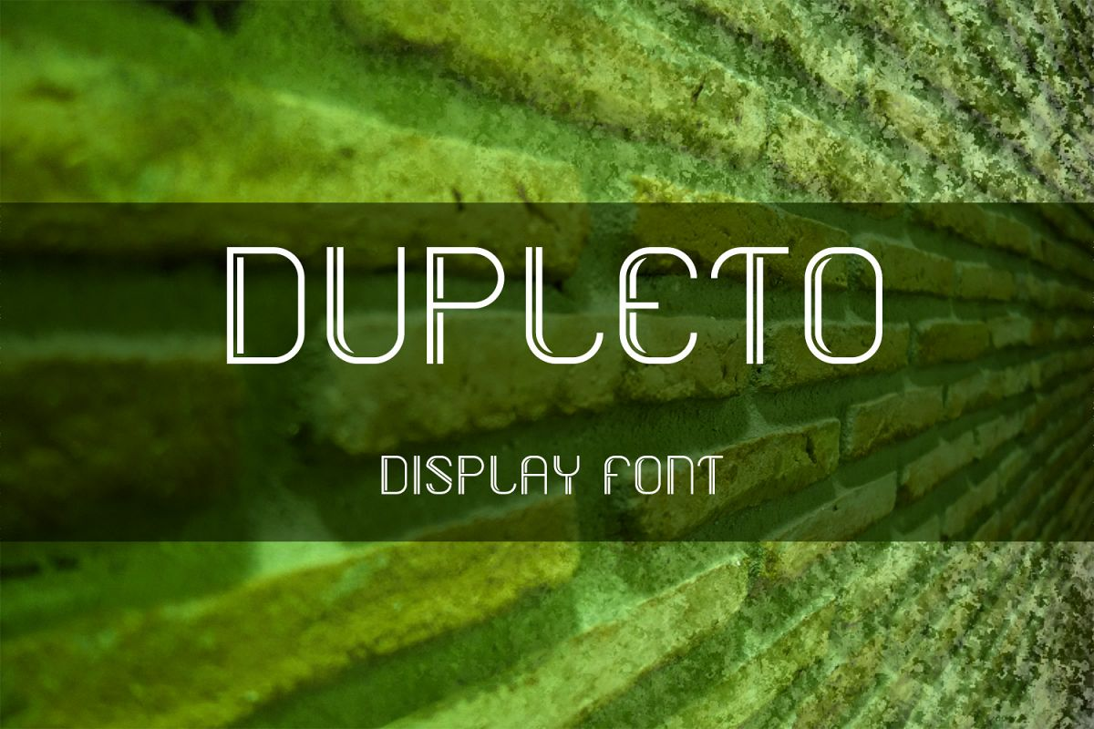 DUPLETO Display font example image 1