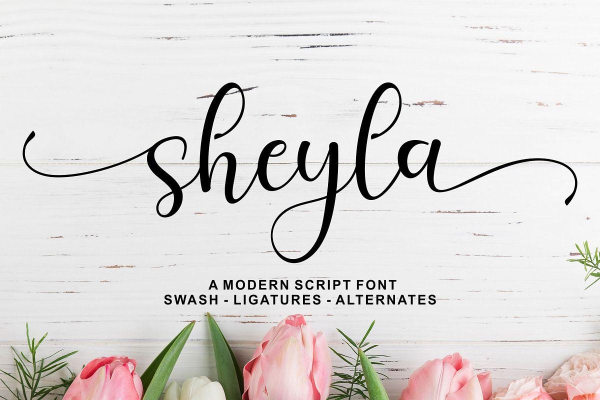 Sheyla Modern Script example image 1