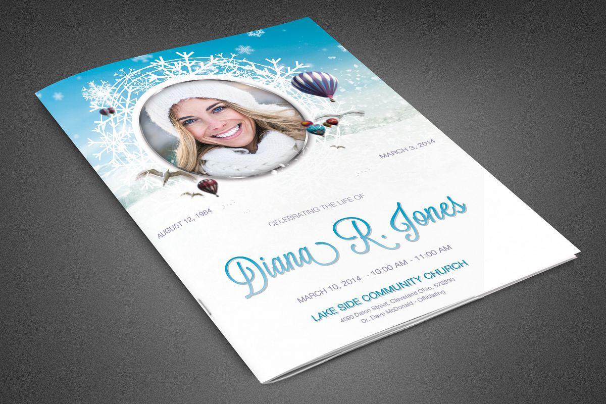 Winter Goodbye Funeral Program example image 1