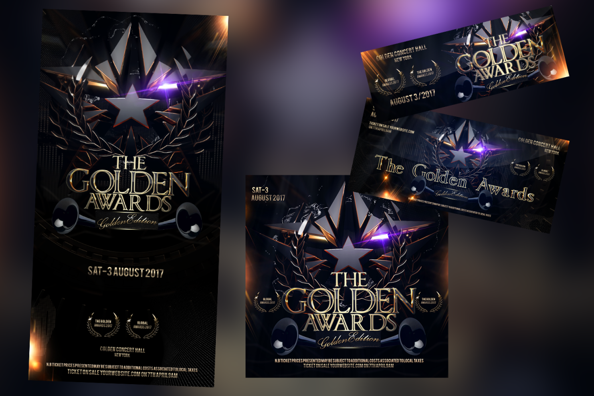 The Golden Awards WEB Banner example image 1