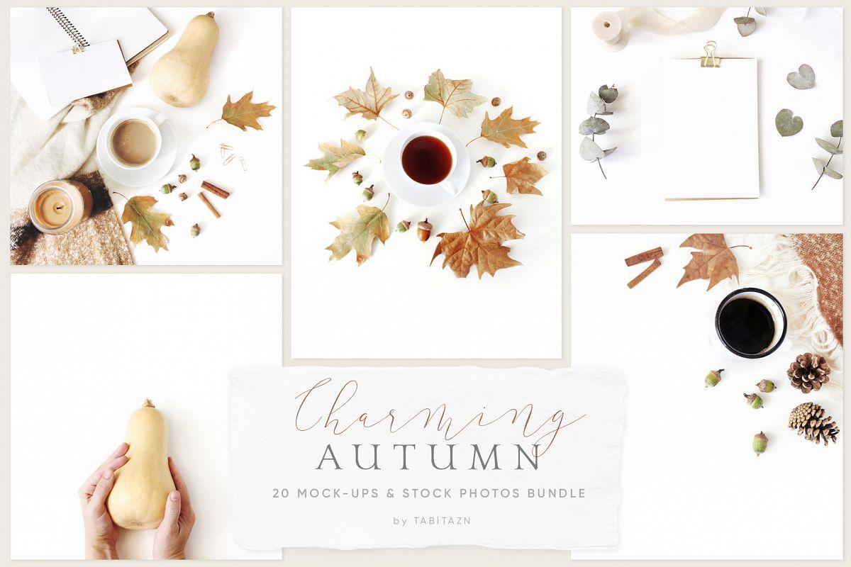 20 Charming autumn mockups & stock photo bundle example image 1