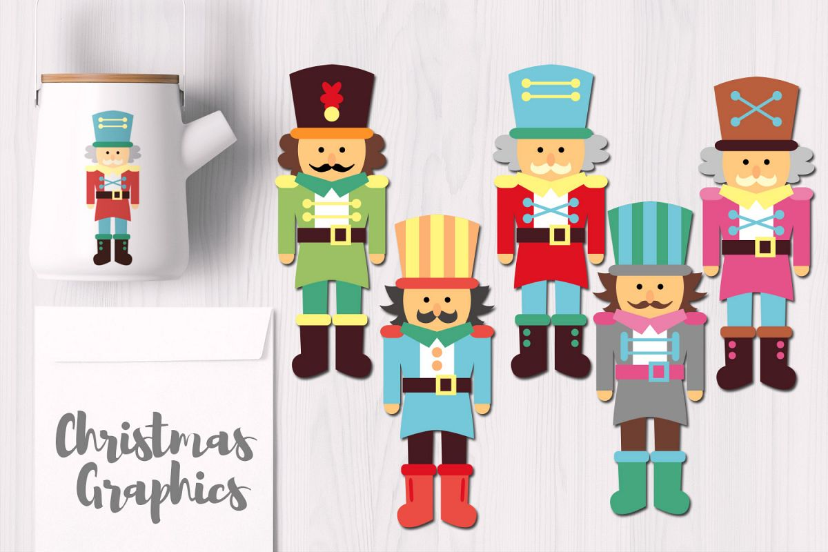 Cute Nutcracker Christmas Graphics