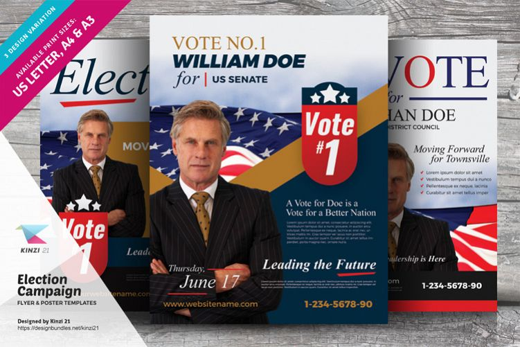 Election Campaign Flyer And Poster Templates Example Image 1