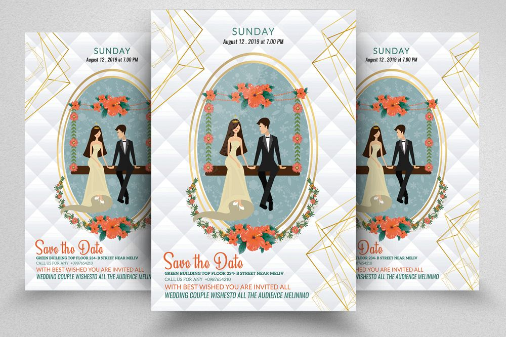 Save The Date Invitation Flyer example image 1