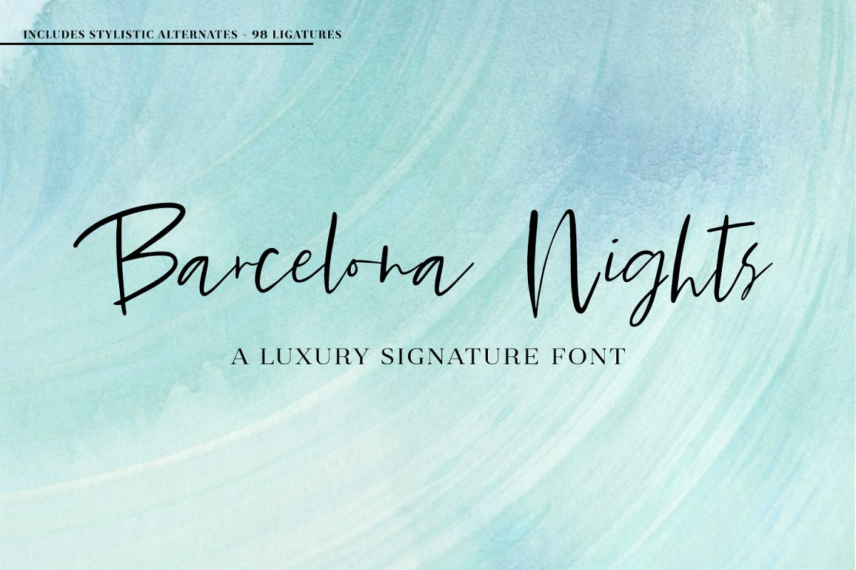 Barcelona Nights Signature Script example image 1