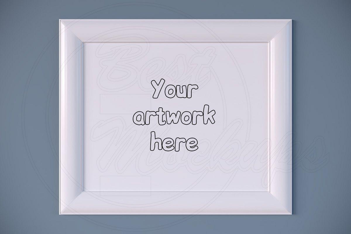 Large white digital frame mockup PSD example image 1