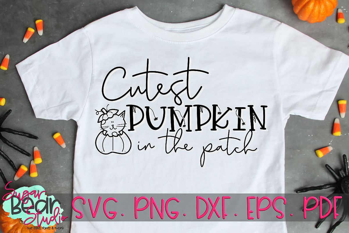 Cutest Pumpkin in the Patch - A Halloween SVG example image 1