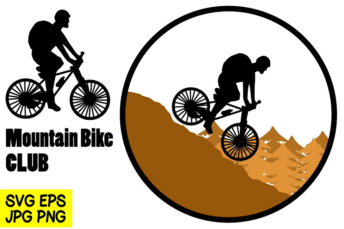Mountain Bike - SVG/EPS/JPG/PNG Hand Drawing example image 1