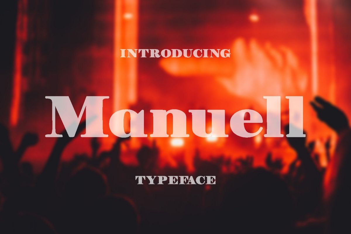 Manuell Font example image 1