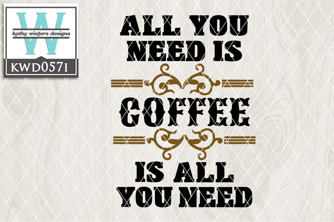 Coffee Cutting File KWD057I example image 1