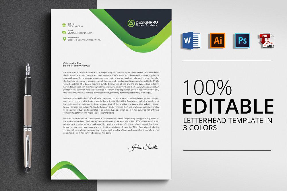 letterhead microsoft word by designhub7 design bundles