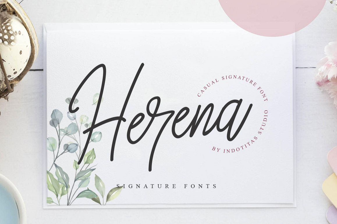 Herena Signature Font example image 1
