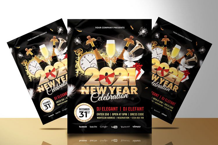 NEW YEAR PARTY FLYER 3 example image 1