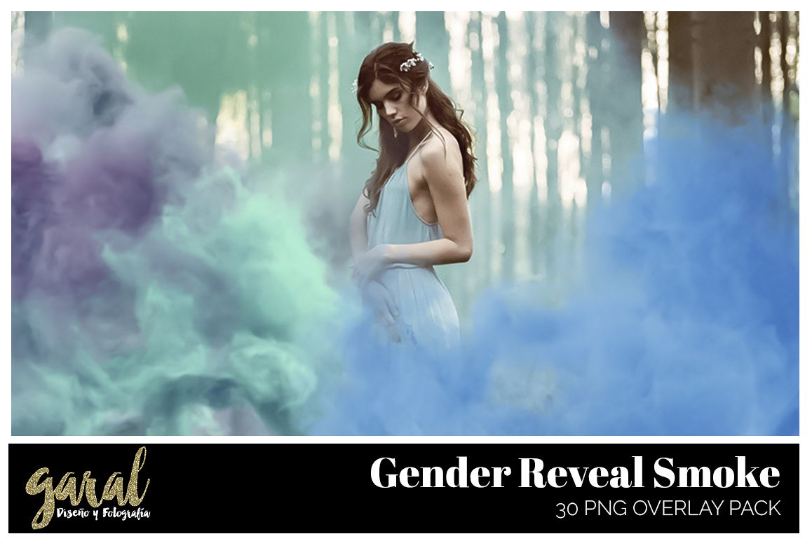 GENDER REVEAL SMOKE. PNG Photoshop Overlays example image 1