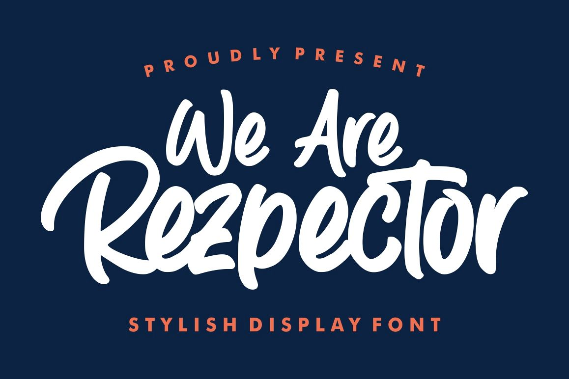Rezpector || Stylish Display Font example image 1