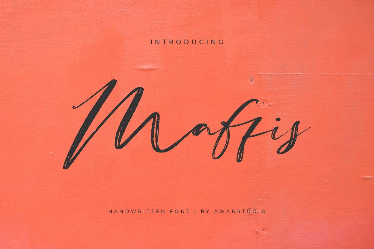 Maffis Handwritten Font example image 1
