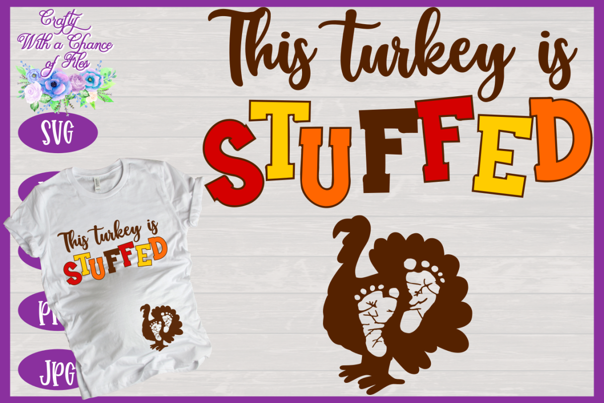 Thanksgiving SVG | Maternity SVG | Pregnancy Shirt Design example image 1