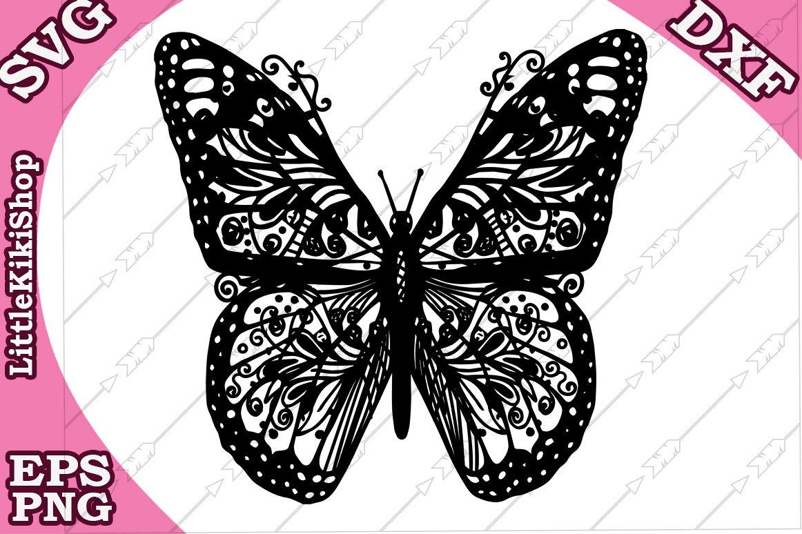 Download Zentangle Butterfly Svg, Mandala Butterfly, Butterfly cut ...