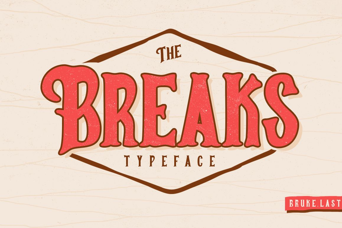 Breaks Typeface example image 1