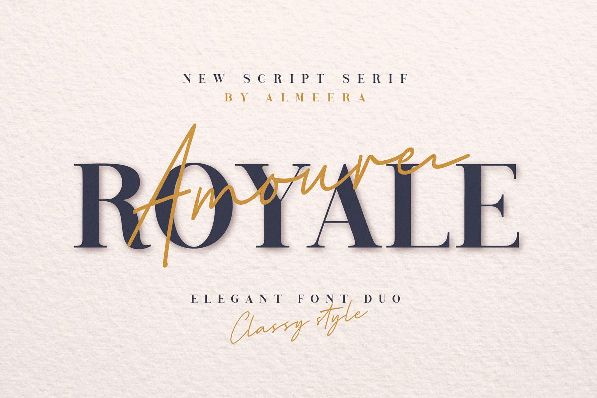 Royale Amoure Font Duo example image 1