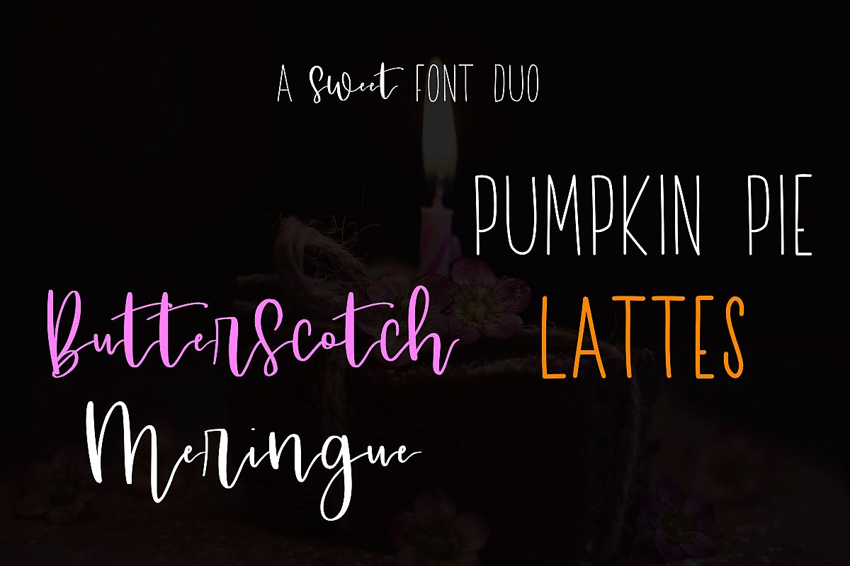 A Sweet Font Duo example image 1
