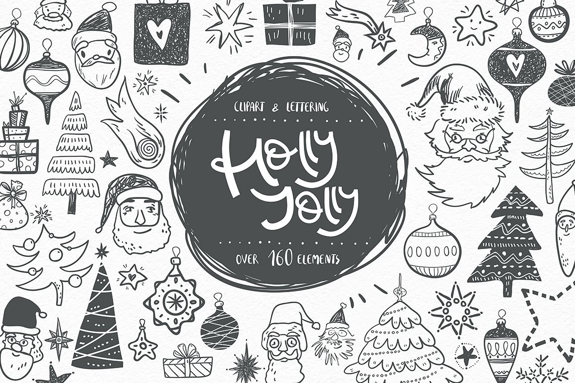 Holly Jolly. Winter doodles. example image 1