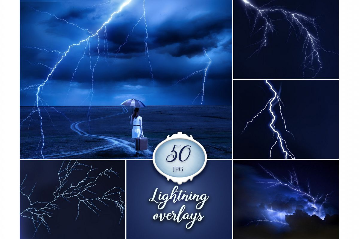 50 Lightning Photo Overlays example image 1