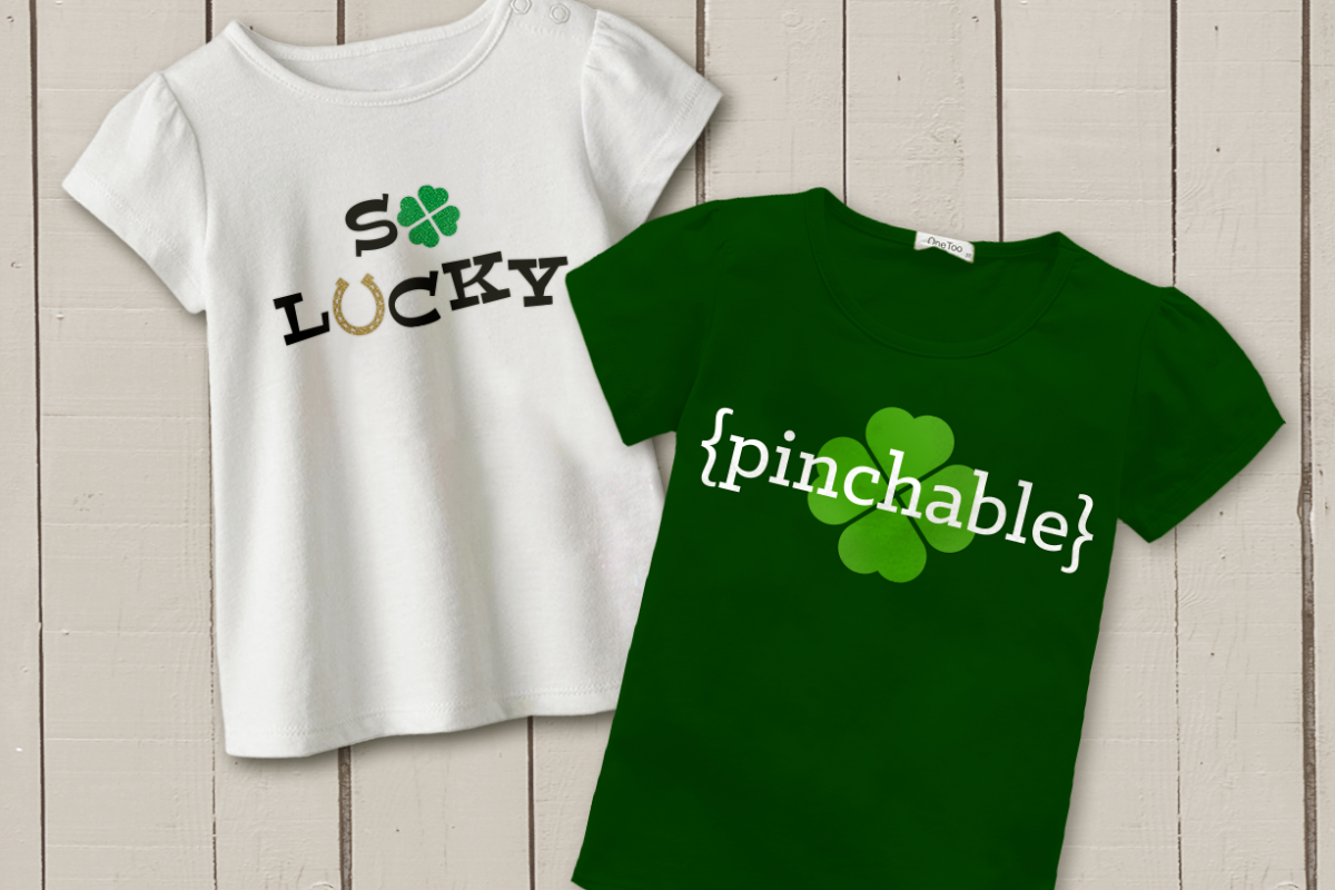St. Patrick's Day Phrases SVG File Cutting Template Set example image 1