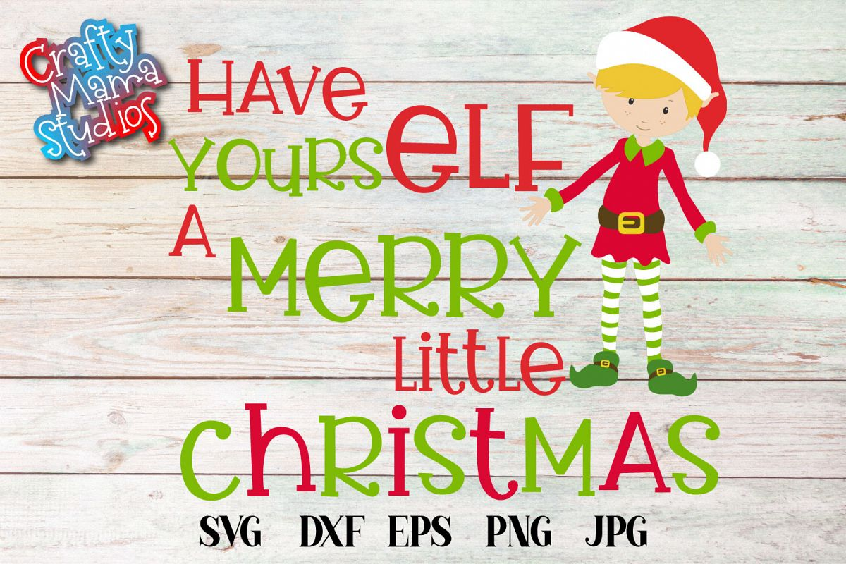 Have Yourself A Merry Little Christmas, SVG Christmas SVG example image 1