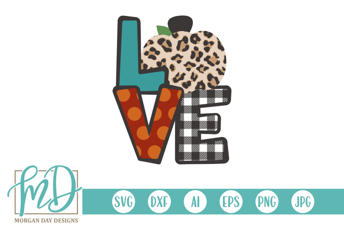 Fall - Halloween - Autumn - Pumpkin Love SVG example image 1