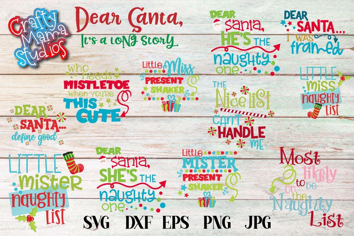 Naughty List SVG Bundle, Santa's Naughty List, Christmas example image 1