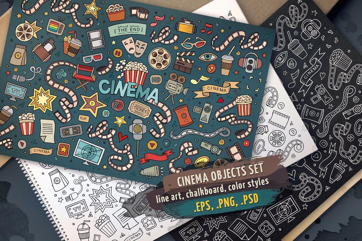 Cinema Objects & Elements Set example image 1