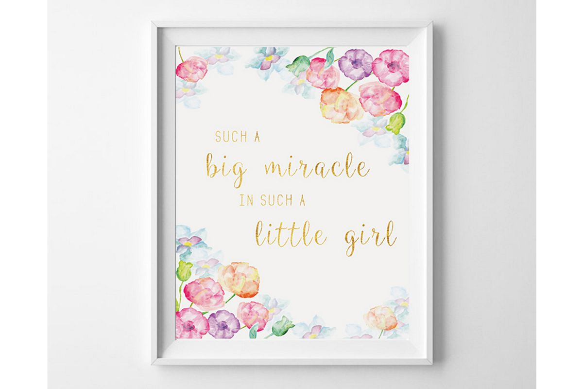 Downloadable Prints for Nursery, Girls Room Wall Prints example image 1