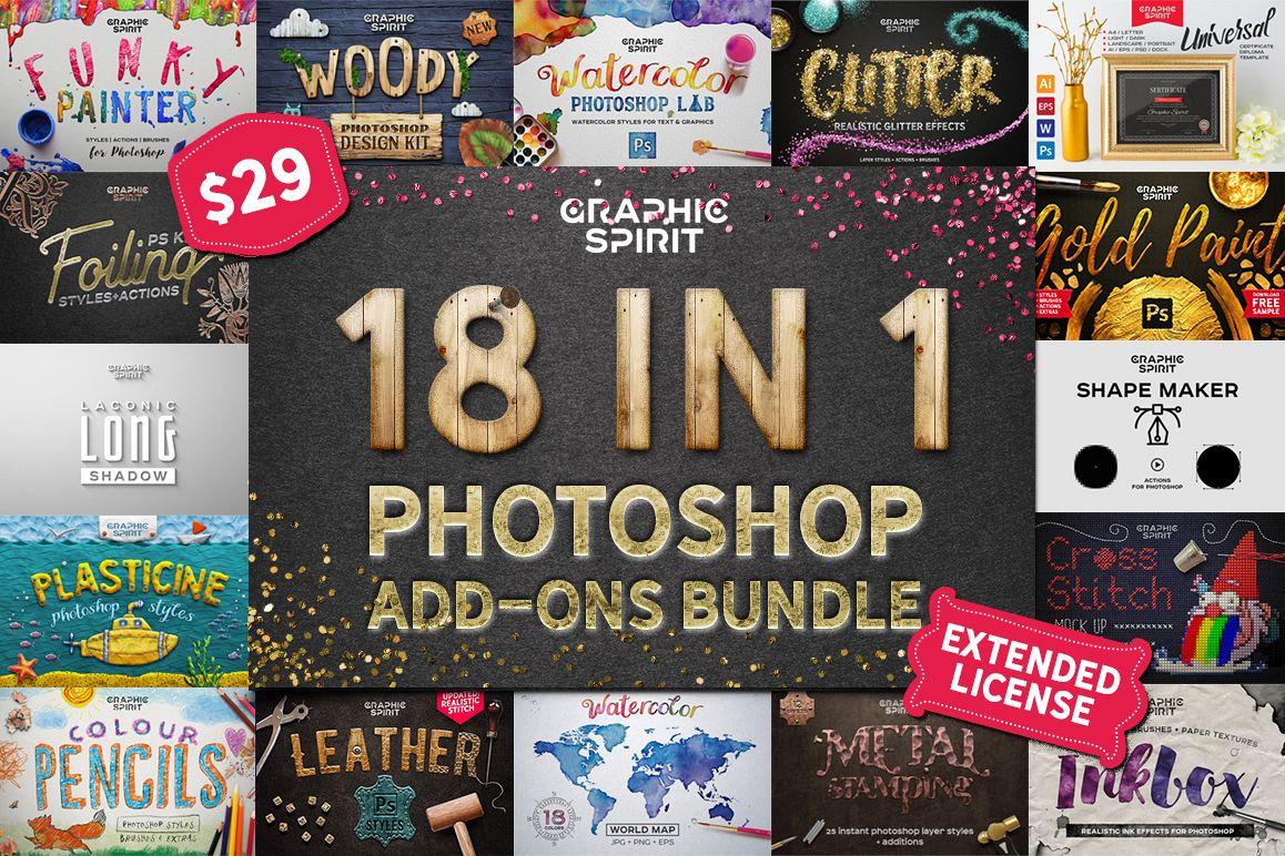 18 IN 1 Photoshop Bundle SALE example image 1