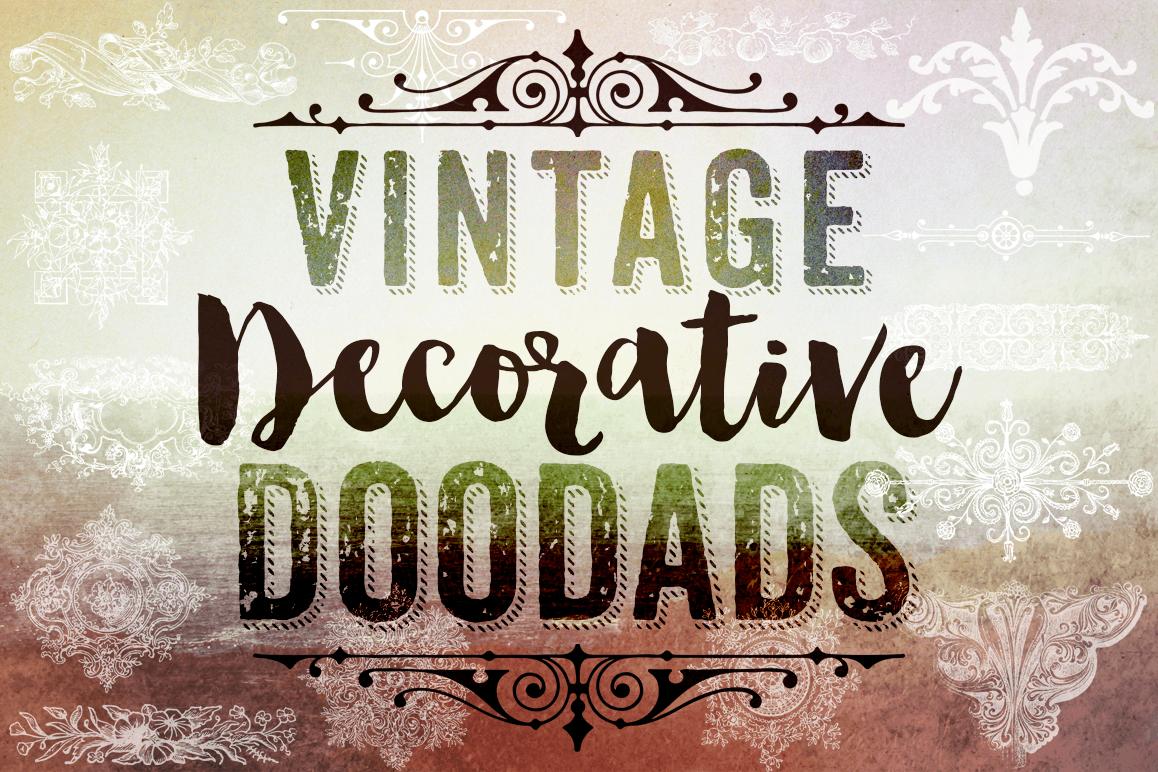 Decorative Photoshop Brushes - Vintage Decorative Clipart example image 1